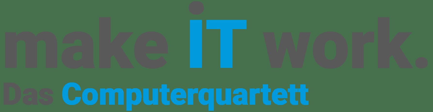 logo make IT work. Das Computerquartett